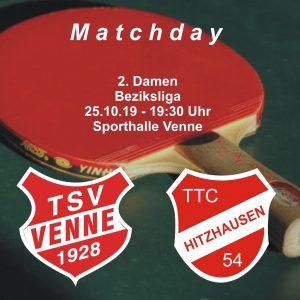 TSV Venne - TTC Hitzhausen @ Sporthalle Venne