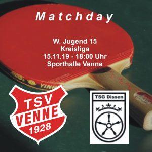 TSV Venne - TSG Dissen @ Sporthalle Venne
