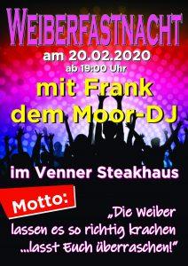 Weiberfastnacht @ Venner Steakhaus